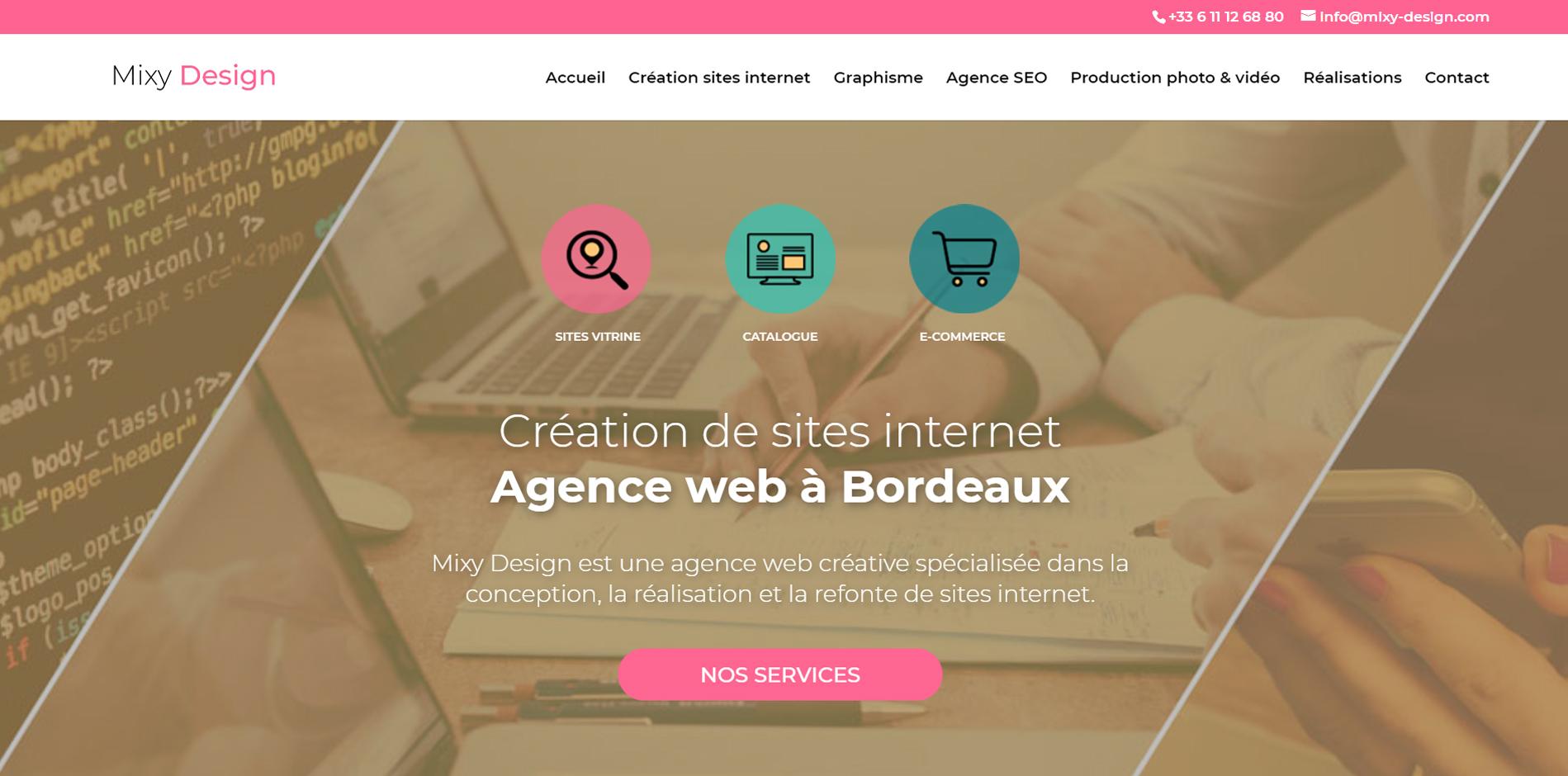 site web agence mixy design bordeaux